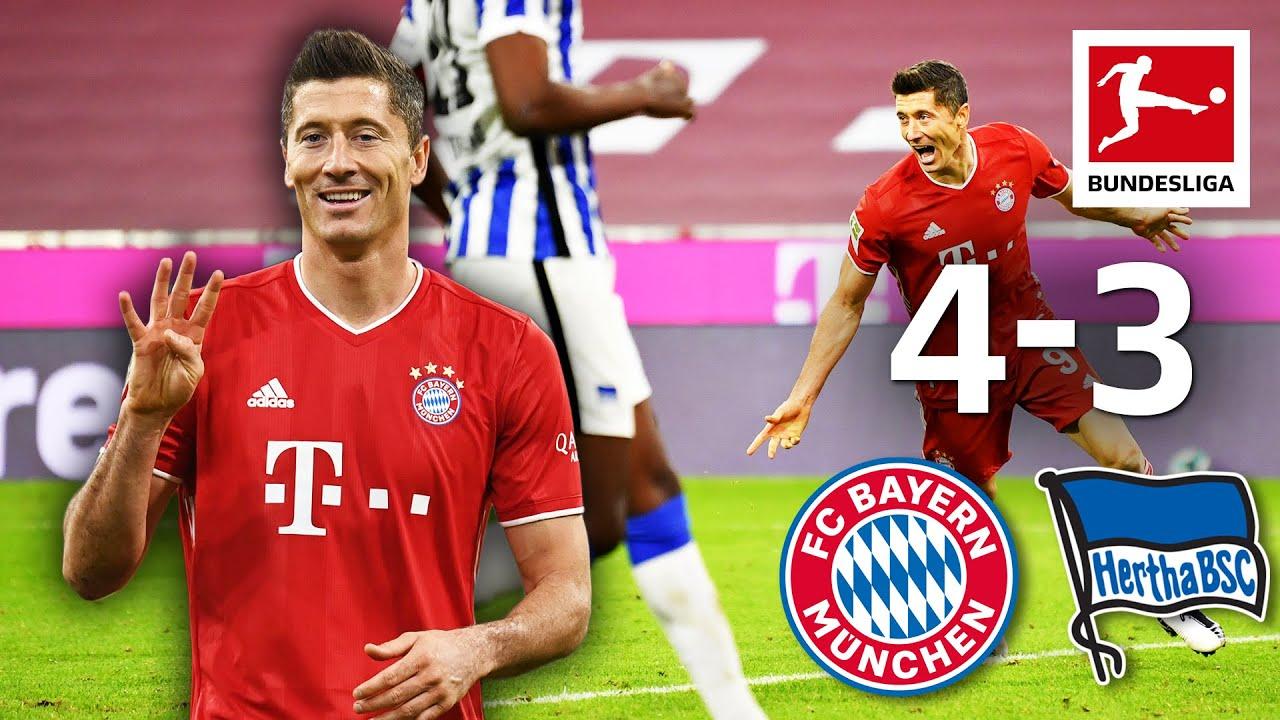 Lewandowski x 4(!) | Bayern München - Hertha | 4-3 | Highlights | Matchday 3 – Bundesliga 20/21