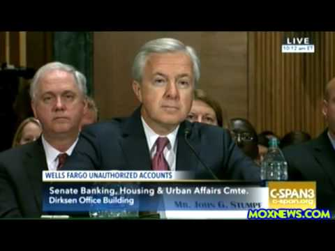 Wells Fargo CEO Grilled At Hearing On Fraudulent Accounts SCAM On Their Customers