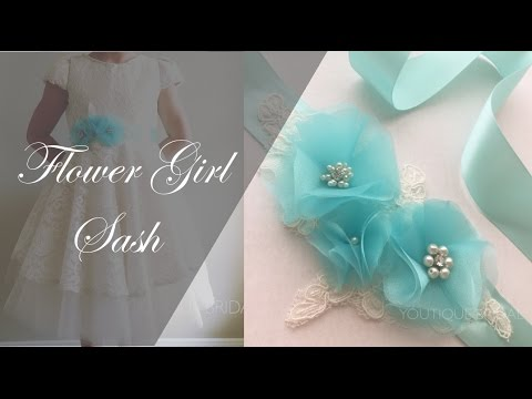 DIY Sash : Flower Girl Dress