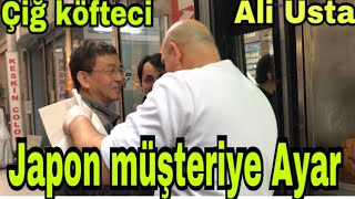Manyak Çiğ Köfteçi (Ali Usta )Japon Müşteriyle Dalga Geç(famous Ciğköfteci Ali Master Beats Tourists