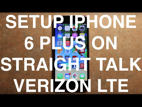 Setup iPhone 6 Plus On Straight Talk Verizon 4G LTE