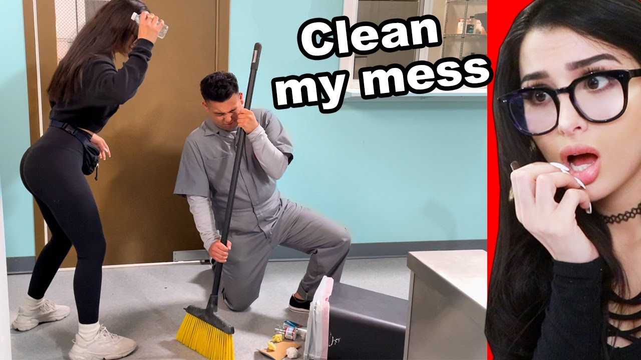Mean Girl Bullies School Janitor For Doing His Job ft SSSniperWolf