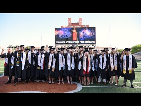 UT graduates presented with student-athlete stoles [May 21, 2018]