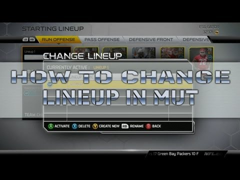 Madden 25 How to change your Lineup in Ultimate Team