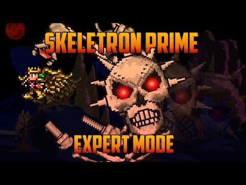Terraria 1.3 - Skeletron Prime, Expert Mode Boss Battle