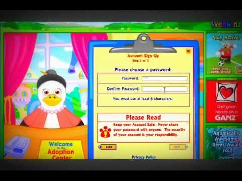 How To Make A FREE Webkinz Account