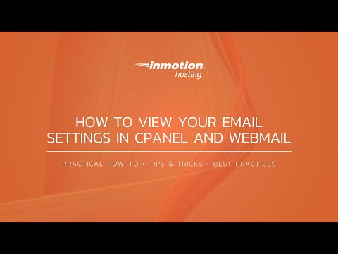 How to View your Email Settings in cPanel and Webmail (paper_lanern)
