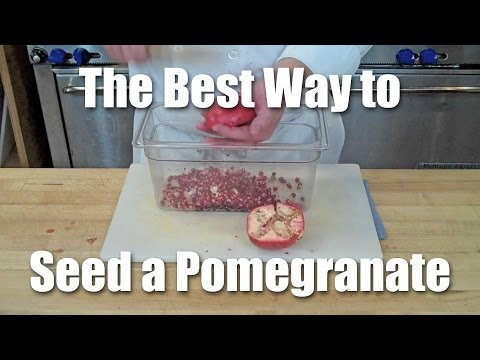 How To Quickly De-seed A Pomegranate