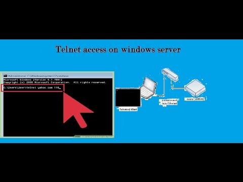 Telnet on windows server
