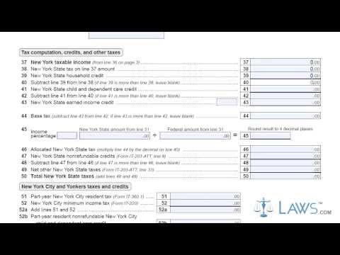Form IT 203 X Amended Nonresident and Part Year Resident Income Tax Return