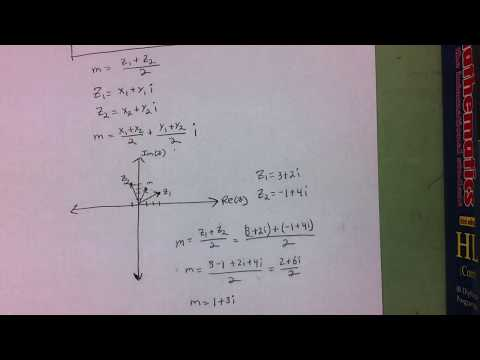 Finding the Midpoint of Two Complex Numbers