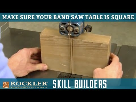 Simple Tip for Checking that a Band Saw Blade is Square to the Table | Rockler Skill Builders