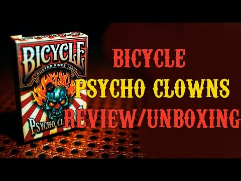 Bicycle Psycho Clowns Playing Card (Limited Edition)  Review/Unboxing