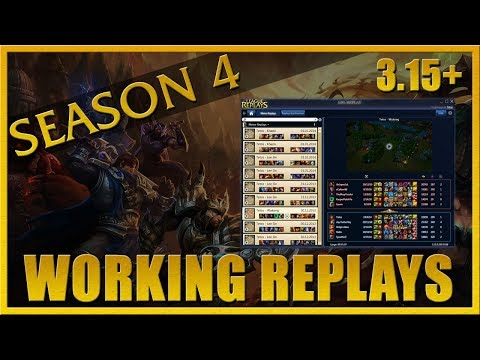 LOL Replay Guide - League Patch 3.14/3.15 Fix (working replays for Season 4)