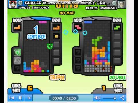 Tetris Battle Guiller Martel Gallajones GamePlay PRO Perfect-clear and 3K.O's