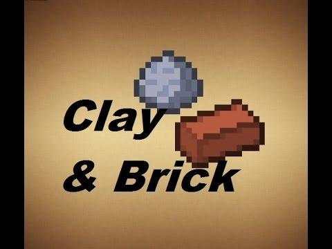 Minecraft - Crafting Recipes - Clay, Bricks & Hardened Clay