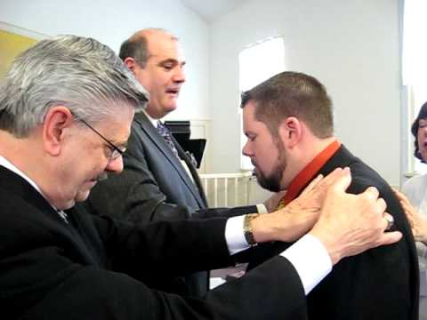 Minister Joe Wiseman Being Licensed to Minister