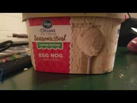 Eggnog ice cream review