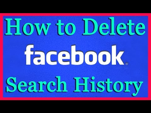 How to Delete Facebook Search History