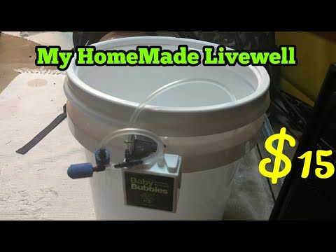 My HomeMade Live well (only $15) The perfect Live well/ bait bucket