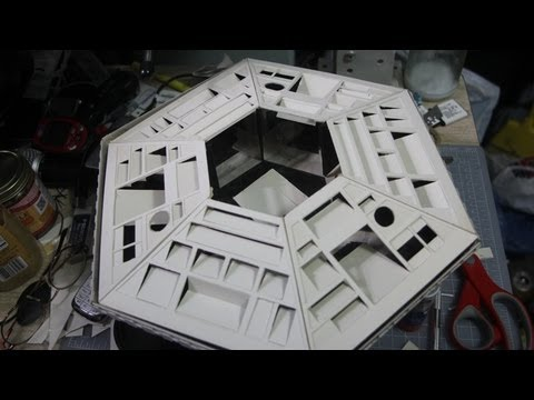 Building a Doctor Who Tardis console from scratch D.I.Y. part 1.mpg