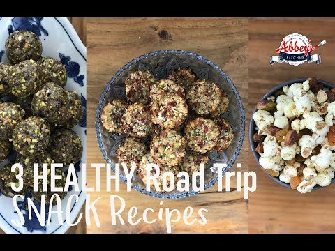 3 Healthy ROAD TRIP Snacks Recipes | PROTEIN Packed Matcha Energy Balls, Trail Mix & Oat Bites