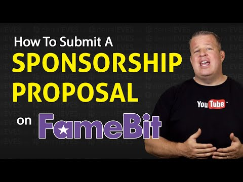 How to Submit a Sponsorship Proposal For Your YouTube Channel on Famebit