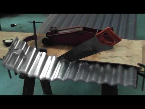 Clear roofing sheet cutting