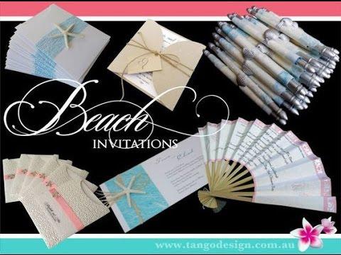 Beach Wedding Invitations by Tango Design