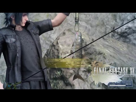 Final Fantasy XV (Fishing Naturally) Catch A Cherrycomb Trout