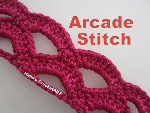 How To Crochet- Arcade Stitch Tutorial