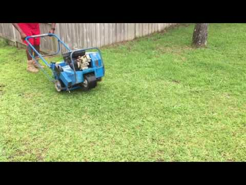 Bluebird 530 Lawn Aerator demonstration and information