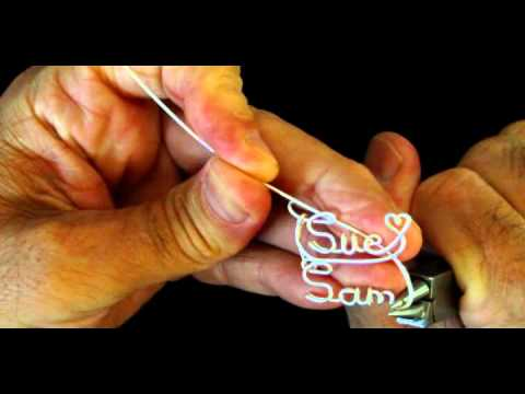 How to Make a Two Name Personalized Wire Name Necklace
