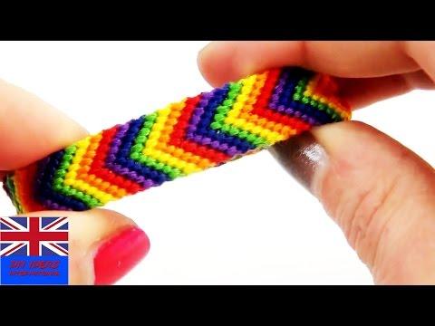 Friendship bracelet rainbow. Tutorial: How to make a friendship bracelet with rainbow colours?