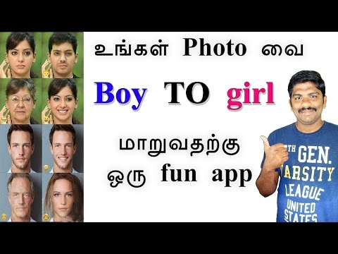 How to change your photo boy to girl in Mobile - Tamil Tech loud oli