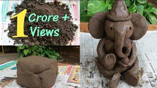 Eco friendly ganapati making @zero rupee || ganesh making with home made clay