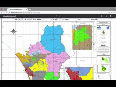 How to find Costa Rica Land Valuation Maps
