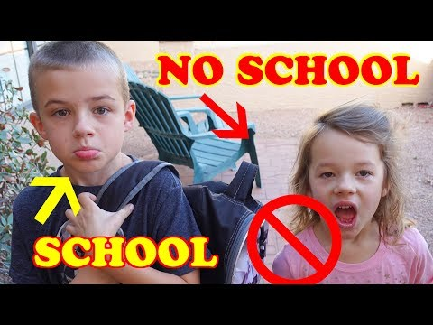 Morning Routine of SCHOOL vs NO SCHOOL For The Kids