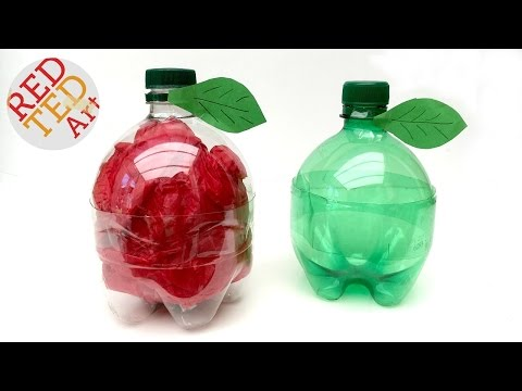 Easy Apple Gift Box as Teachers Gifts - 5minute Crafts - Recycled Bottles