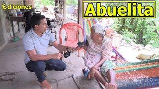 Doña Santos Lemus abuelita en extrema pobreza - Ediciones Mendoza