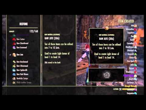 The Elder Scrolls Online: Bulk Clothier Refinement