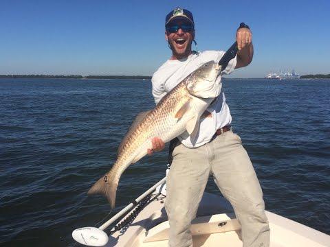 Big Redfish Catching in Charleston, SC