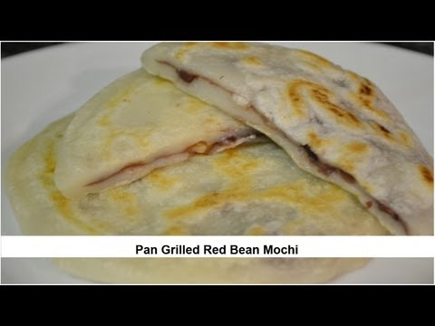 Pan Grilled Red Bean Mochi