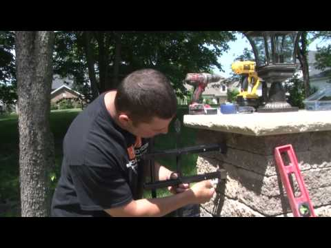 Aluminum Fence - How to install aluminum fencing wall mounts on masonry columns.