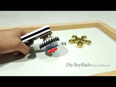 How to Make Beyblade without top Stick From Cardboard at home