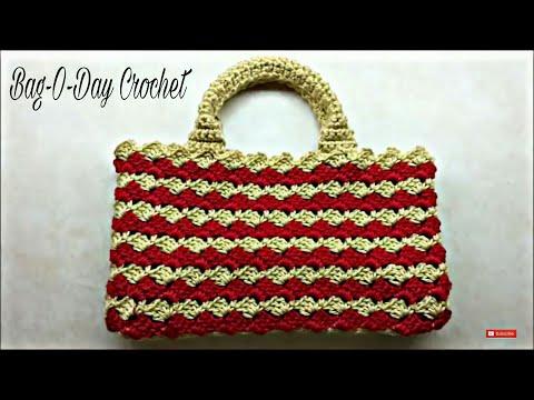 CROCHET How to #Crochet Look A-Like #PRADA BAG #Handbag #TUTORIAL #203 LEARN CROCHET