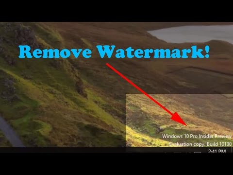 How to Remove Watermark from Windows 10 Desktop