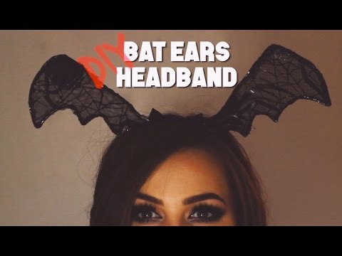 DIY | Halloween Bat Ears Headband