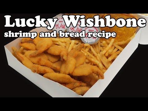 lucky wishbone breaded shimp and garlic bread recipe