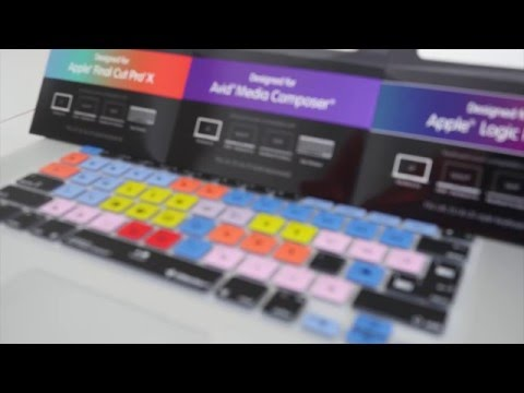 Edit faster with Editors Keys Keyboard Cover Skins for Apple MacBook Pro and iMac